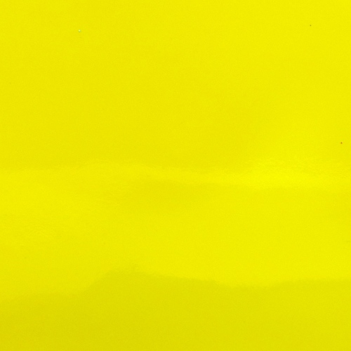 Patent Faux Leather - Sheet - Neon Yellow