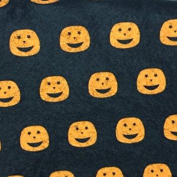 30cm x 30cm SHEET Wool Blend Felt - Halloween Patterns - Pumpkins