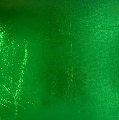 Metallic Faux Leather - Sheet - Green