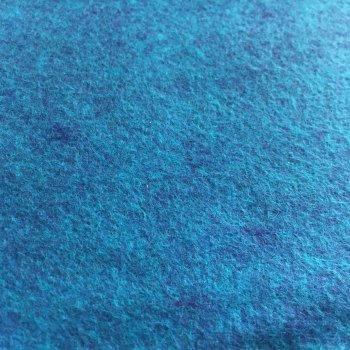 Merino Heathered Felt - Tropical Wave