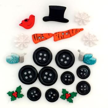 Dress it Up Button Pack - Build a Snowman