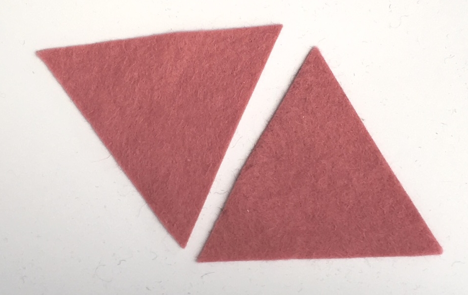 Die Cut Triangles