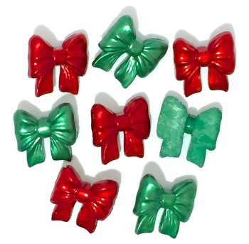 Dress it Up Button Pack - Christmas Bows