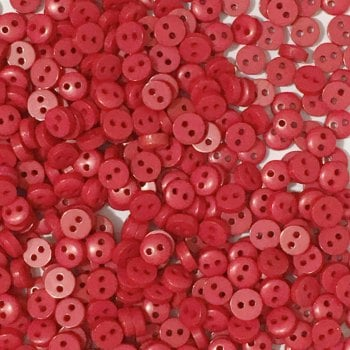 SALE - Pack of 50 - 6mm Mini Round Buttons - Red