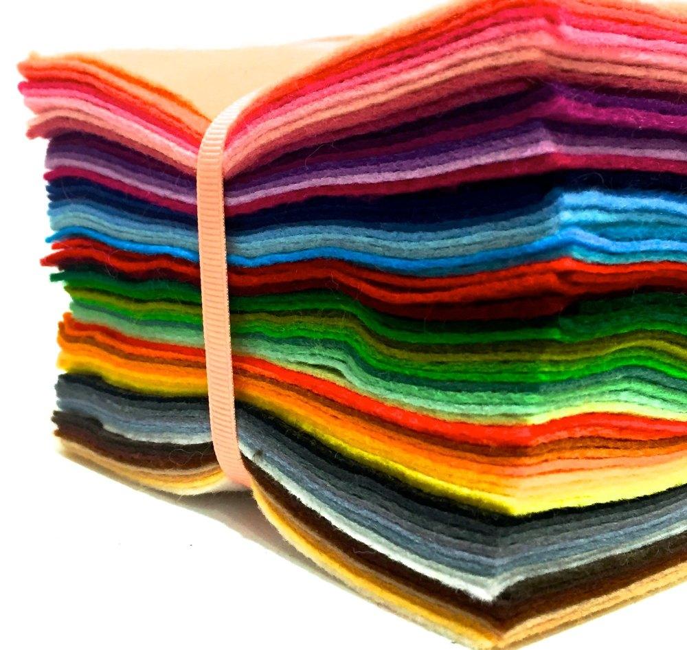Wool Blend Felt Medium Rainbow