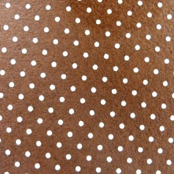 Acrylic Patterned Felt Sheet - Mini Dots - Brown