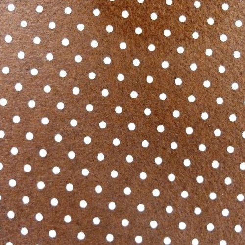 Patterned Felt - Dots - Brown