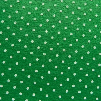 Acrylic Patterned Felt Sheet - Mini Dots - Green