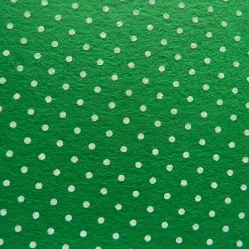 Patterned Felt - Dots - Green