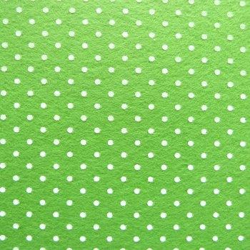 Acrylic Patterned Felt Sheet - Mini Dots - Lime Green