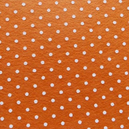 Patterned Felt - Dots - Orange