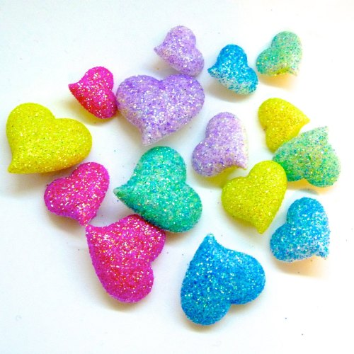 Dress It Up - Daydream Glitter Heart Button Pack