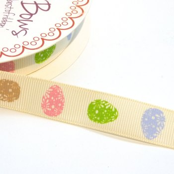 16mm wide Grosgrain Easter Egg Ribbon