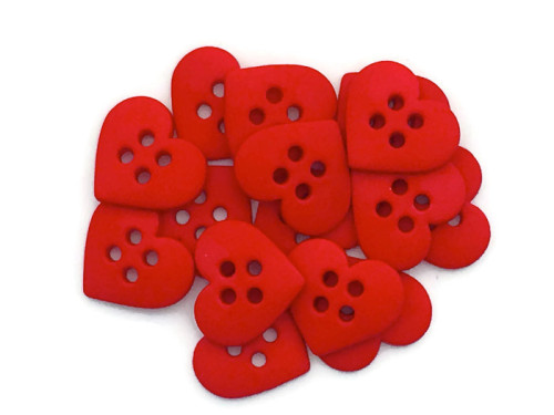 Dress It Up Buttons - Sew Cute Red Hearts