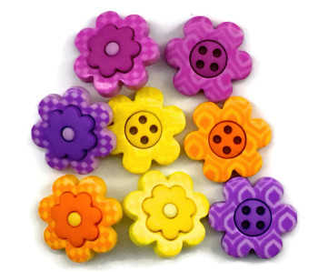 Dress It Up Button Pack - Bright Blossoms