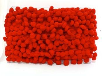 SALE 15mm Pom Pom Trim - Red