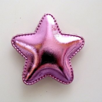 48mm Padded Metallic Star - Pink
