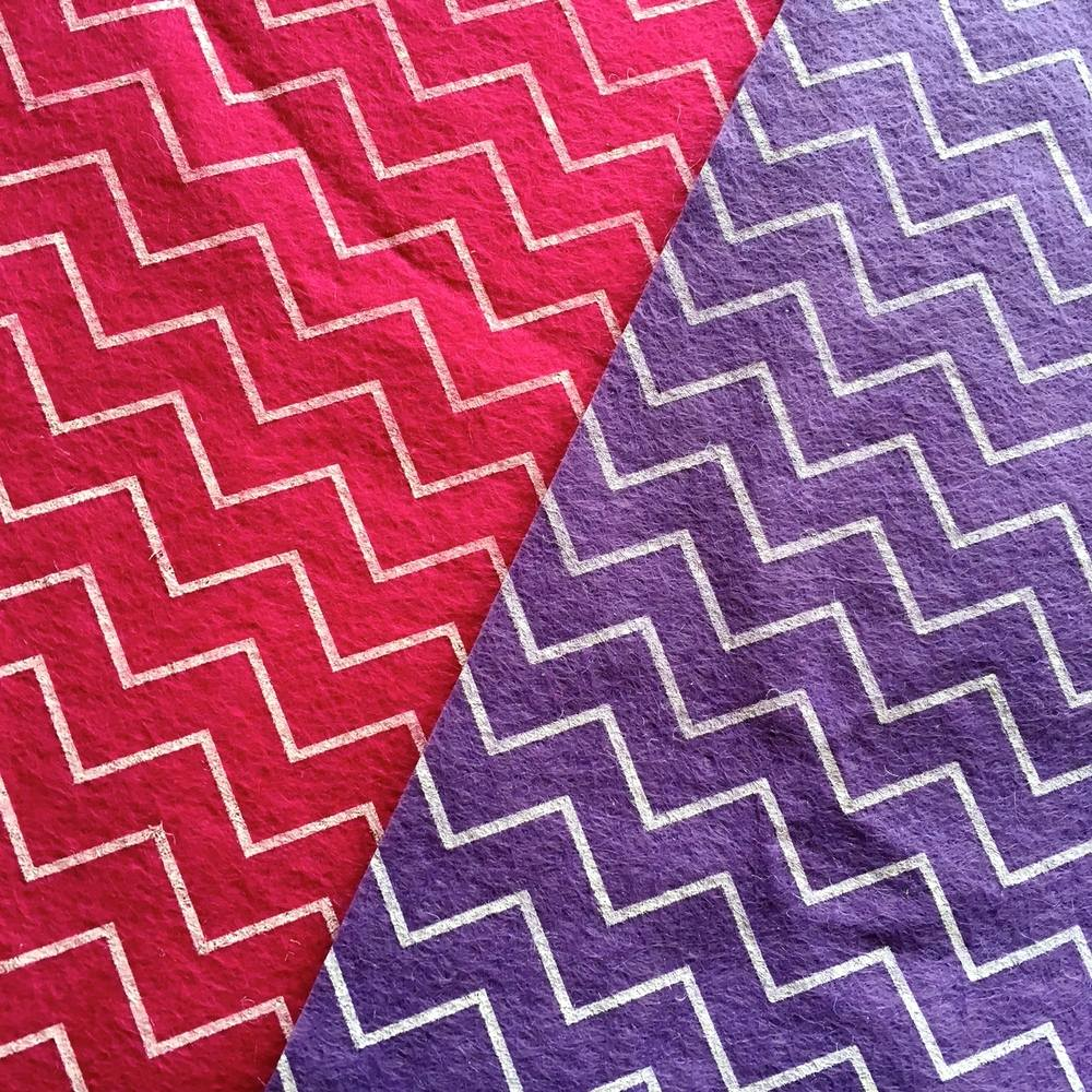 Patterned Felt - Chevrons