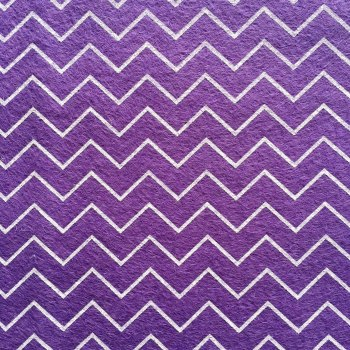 30cm x 30cm SHEET Patterned Felt - Chevrons - Purple