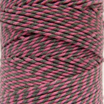 5 Metres - Bakers Twine: Pink/Grey