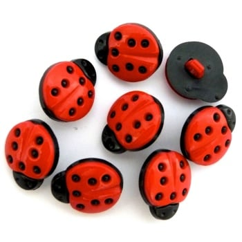 SALE 15mm Ladybird Button