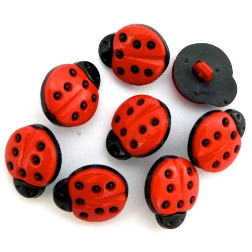 15mm Ladybird Button