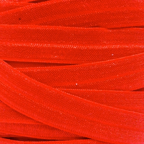 Fold Over Elastic - Plain Pearlescent - Red