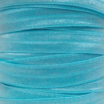 Fold Over Elastic - Pearlescent - Frozen Blue