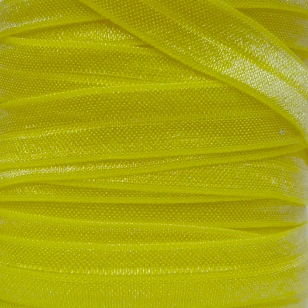 Fold Over Elastic - Plain Pearlescent - Lemon