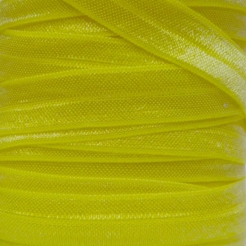 Fold Over Elastic - Pearlescent - Lemon