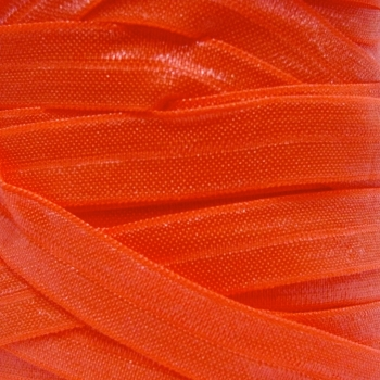 Fold Over Elastic - Pearlescent - Neon Orange