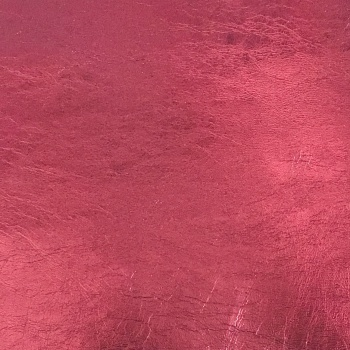 Metallic Faux Leather - Claret