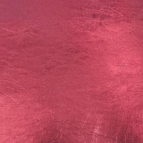 Metallic Faux Leather - Claret