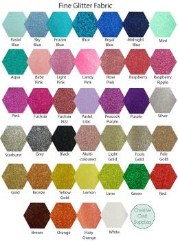 Make Me - Die Cut Bows - Fine Glitter Fabric