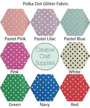 Die Cut Butterfly - Polka Dot Glitter Fabric
