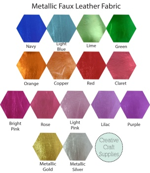 Metallic Faux Leather - Bulk
