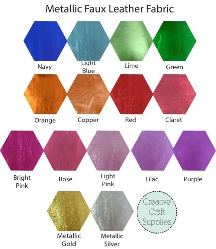 Metallic Faux Leather - Bulk