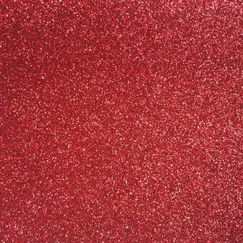 Iron On Glitter - Red