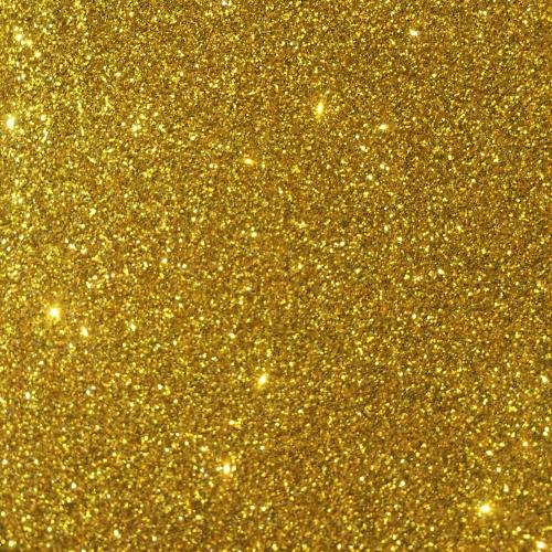 Iron On Glitter - Yellow Gold