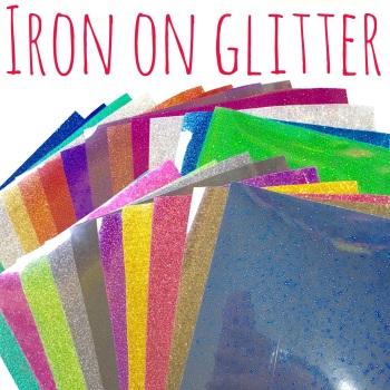 "5"" Die Cut Alphabet Single Letters UPPERCASE - Iron On Glitter"
