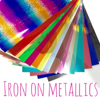 "5"" Die Cut Alphabet Single Letters UPPERCASE - Iron On Metallic"