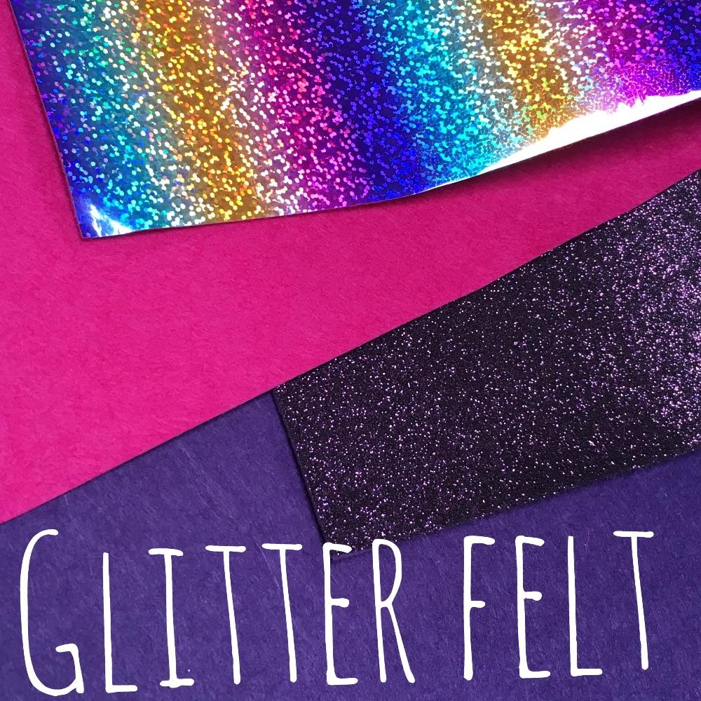 Glitter Felt, Metallic Felt & Felt Backed Glitter