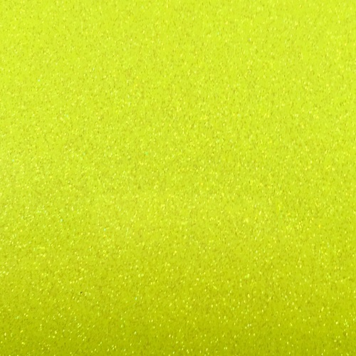 Iron On Glitter - Neon Yellow
