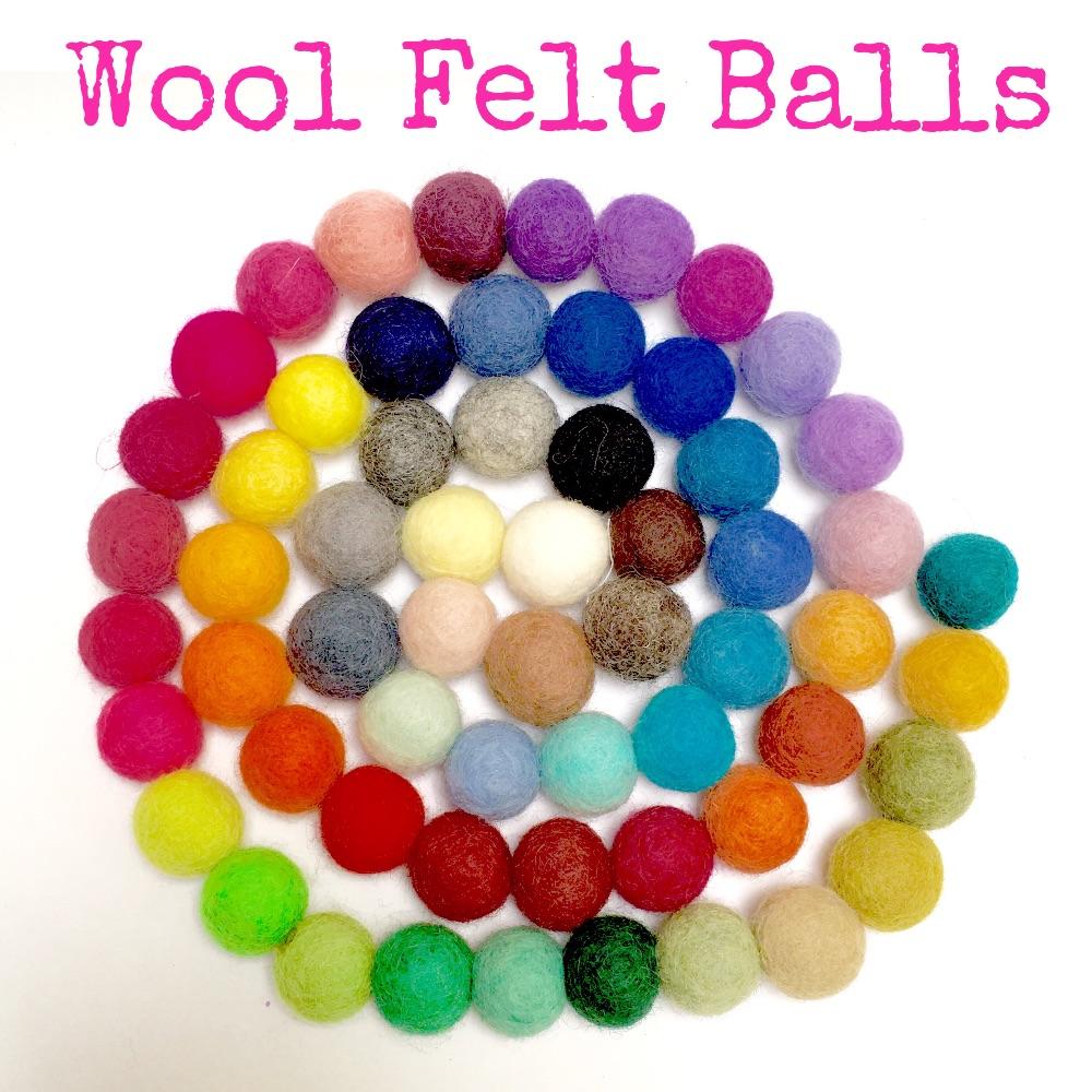 2cm Wool Felt Balls