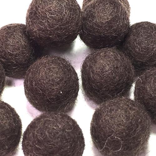 2cm Wool Felt Ball - Dark Cocoa