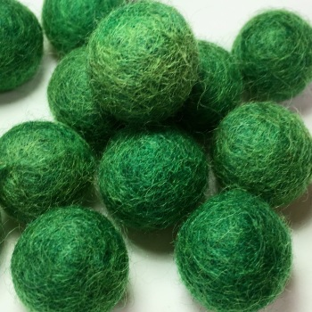 2cm Wool Felt Ball - Dark Green
