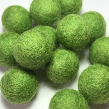 2cm Wool Felt Ball - Green
