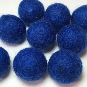 2cm Wool Felt Ball - Ocean Blue
