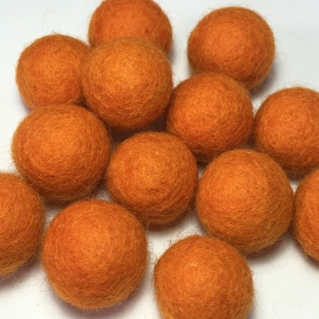 2cm Wool Felt Ball - Orange