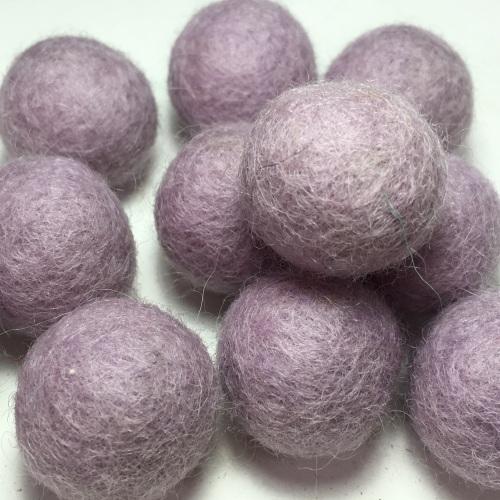 2cm Wool Felt Ball - Pastel Orchid